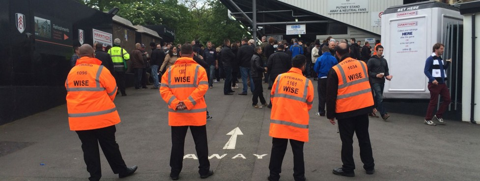 Wise Security Services at football matches and venues